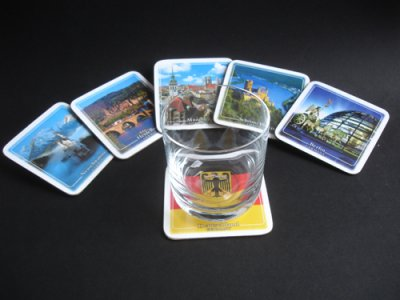 German Table Mats - Famous Sights