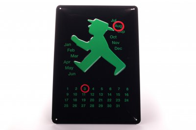 Ampelmännchen Kalender Grün