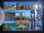 4er Setdeckchen Deutschlandmotiv und Karte