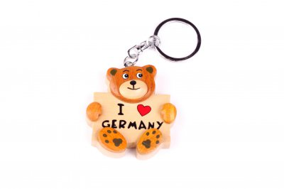 Key Chain Germany - Teddy Bear Wooden