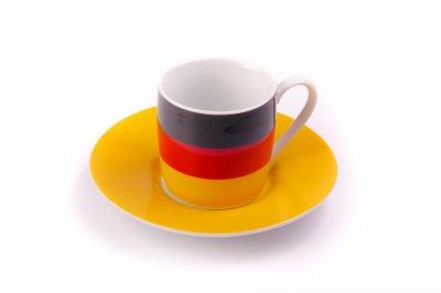 Espresso Tasse Germany mit Untersetzer