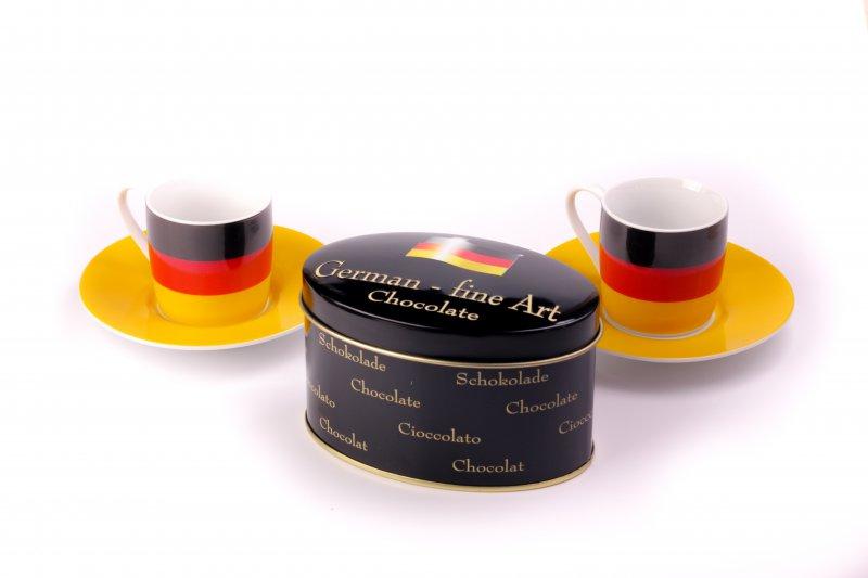 Coffee Set with Chocolate Tin