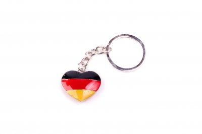 Schlüsselkette Deutschland-Herz