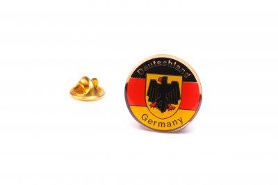 10 Deutschlandwappen-Pins Rund im Set