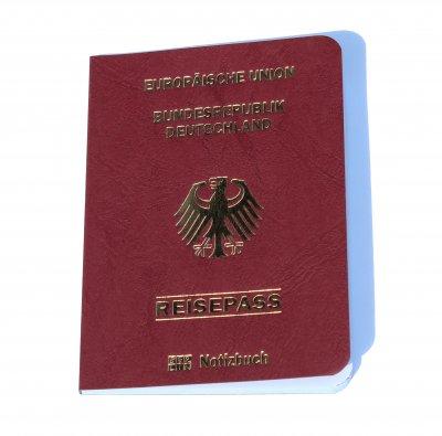 Notizbuch Reisepass Deutschland