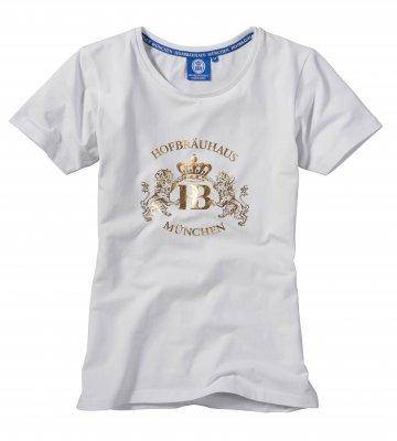 T-Shirt weiß/gold 'Hofbräuhaus'