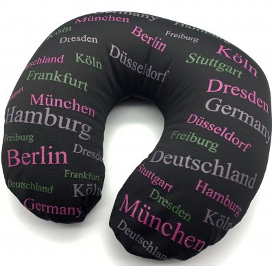 Schwarzes Nackenkissen -Deutschland-