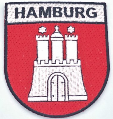 Hamburg Wappen Aufnäher
