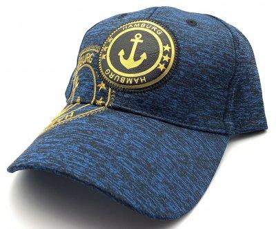 Hamburg Cappy -Blau mit goldenem Aufdruck-