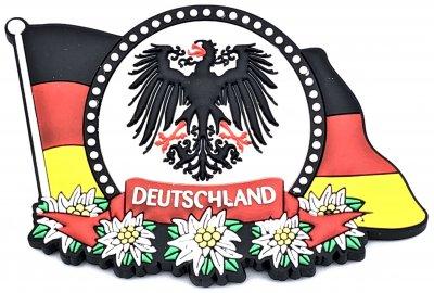 Magnet Deutschlandflagge mit Wappen