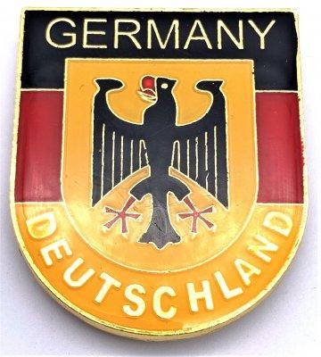Wappenmagnet in Deutschlandfarben