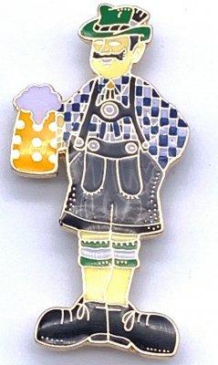 Magnet Mann mit Bierkrug und Lederhose