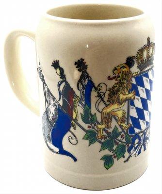 Bierkrug mit Bayern Wappen